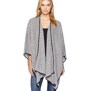Calvin Klein Texture Lurex Knit Stitch Shawl